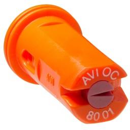 Albuz, AVI-OC 8001 Orange Air Induction off center spray nozzle,AVI-OC8001