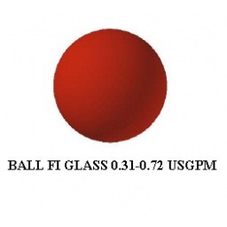 Ball Flow Indicator Glass, Red/Blue