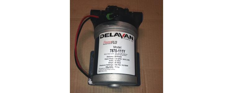 Delavan Pumps 7870-111Y PowerFLO Electric Diaphragm Pump (Bypass) with Weatherproof Electric Connector