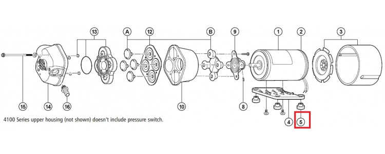 Repair Kit Flojet Grommet 20132-000