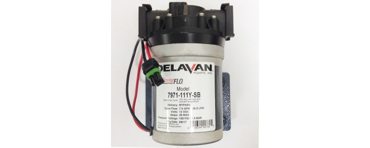 Delavan 7971-111Y FB3  PowerFLO Electric Diaphragm Pump (Bypass) with Quickattach